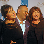 Posing on the red carpet with Cathy Jones and Russell Peters